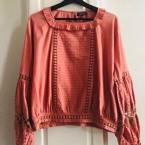 TOPSHOP cut out blouse size 8